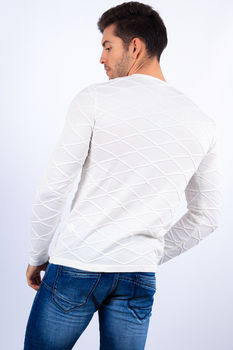pull homme blanc  2125