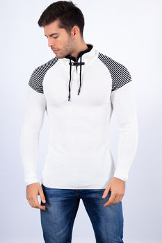 pull homme blanc  1413