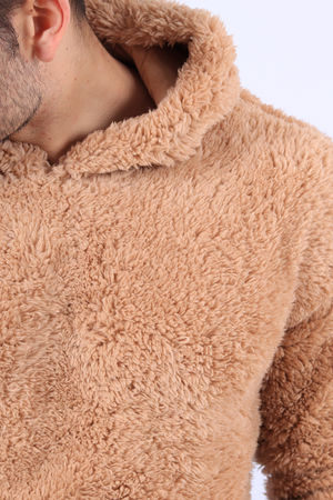 Sweat homme fourrure camel 562