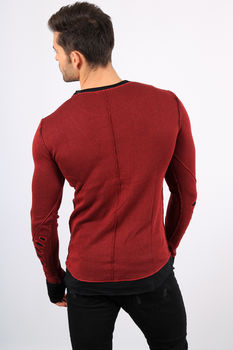 pull homme bordeaux destroy chadow 3020