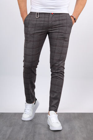 Pantalon carreaux homme gris bordo 19022 2daa9d9acd6