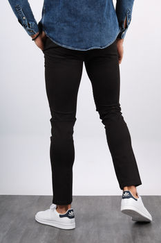 Chino homme noir 001