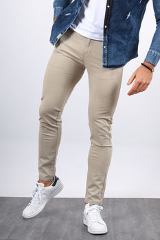 Chino homme gris clair 005