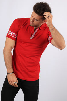 Polo homme rouge 400