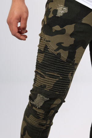 jeans homme camouflage A225