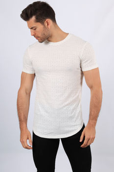 T-shirt homme oversize blanc 371