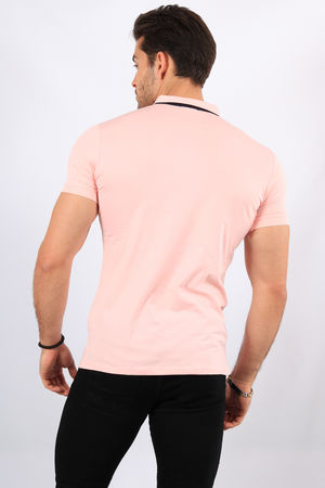 Polo homme rose 8904