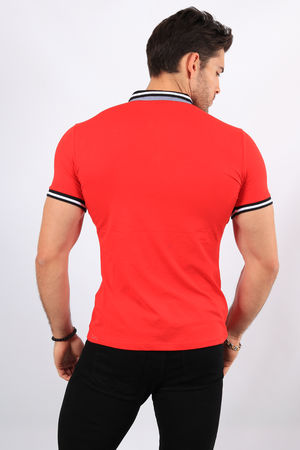 Polo homme rouge 8902