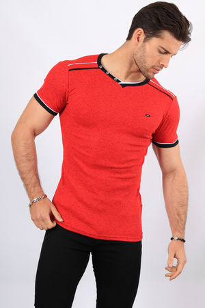 T-shirt homme rouge  2465