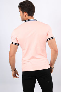 Polo homme rose  8902