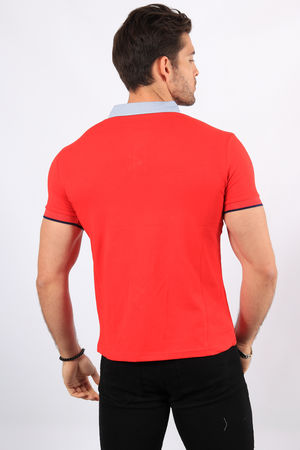 Polo homme rouge  2369