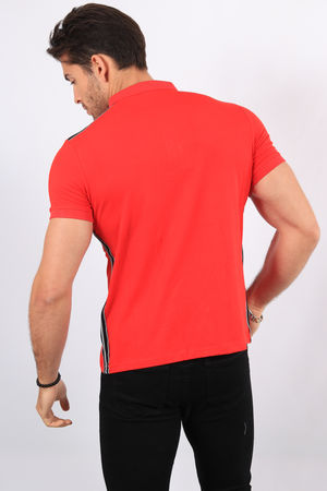 Polo homme rouge 2373