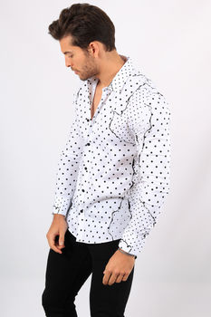 chemise homme blanche F477