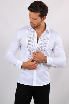 chemise homme blanc F491