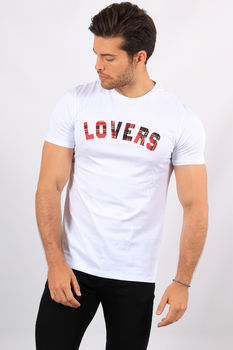 T-shirt  homme blanc  Lovers 359