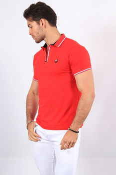 Polo homme rouge  2374