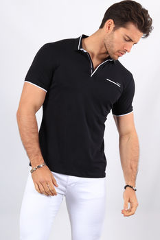 Polo homme navy 8903