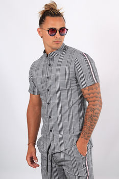 Ensemble t-shirt + short  carreaux C006/3371