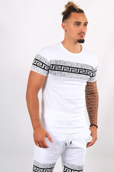 Ensemble t-shirt + short blanc ES3