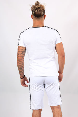 Ensemble t-shirt + short blanc ES11