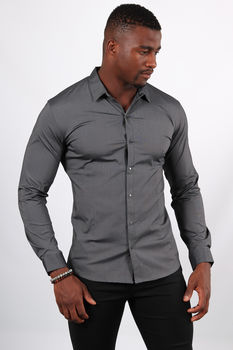 chemise homme gris antra 1027