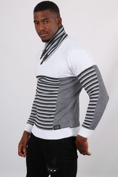 Pull homme blanc 5226
