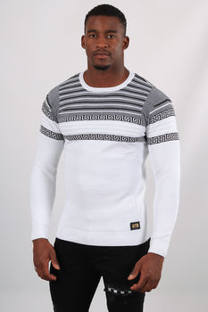 Pull homme blanc 5236