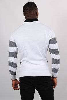 Pull homme blanc col montant 5225