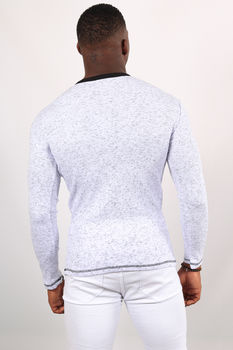 Pull homme blanc chiné 2620