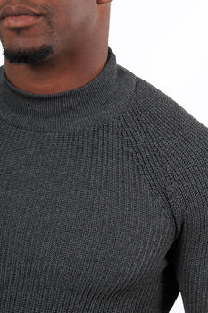 Pull homme gris col montant 2346