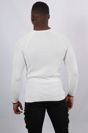Pull homme blanc 2304