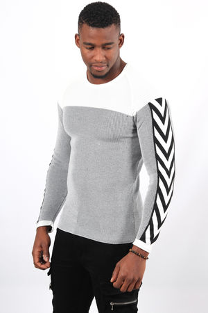 Pull homme blanc 2369