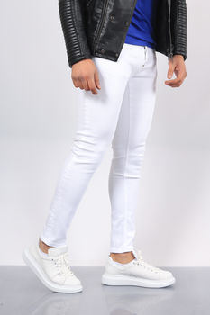 Jeans homme blanc 164