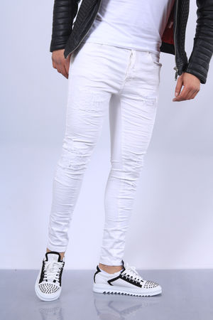 Jeans homme blanc skinny 66117