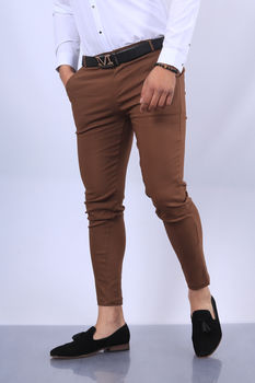pantalon chino  homme marron fri 1697