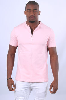 T-shirt homme rose  UP 477