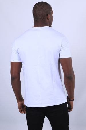 T-shirt homme blanc  UP 477
