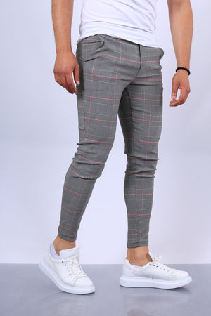 pantalon carreaux homme fri 1624 R