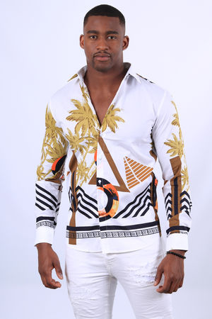 chemise pour homme blanche tropical 2258