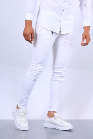 Jeans homme blanc 335