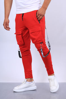 pantalon jogging  homme rouge 7074