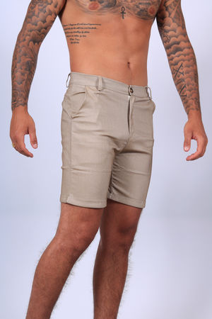 Short chino pour homme beige 1736