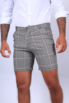Short chino pour homme gris/yellow 1735