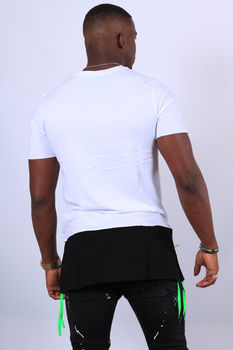 t-shirt homme blanc oversize 2655