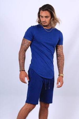 Ensemble t-shirt /short  bleu up497