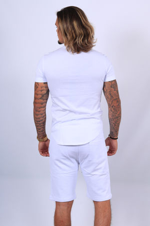 Ensemble t-shirt /short  blanc up497