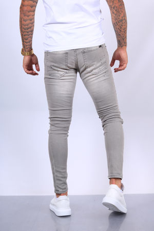 Jeans homme gris skinny 289