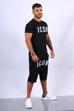 Ensemble t-shirt /short noir icon  THL