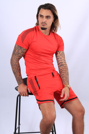 Ensemble t-shirt + short rouge 89/4
