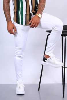 Jeans homme blanc 360